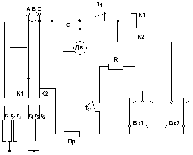 Тепловая завеса ас 200 схема электрическая принципиальная