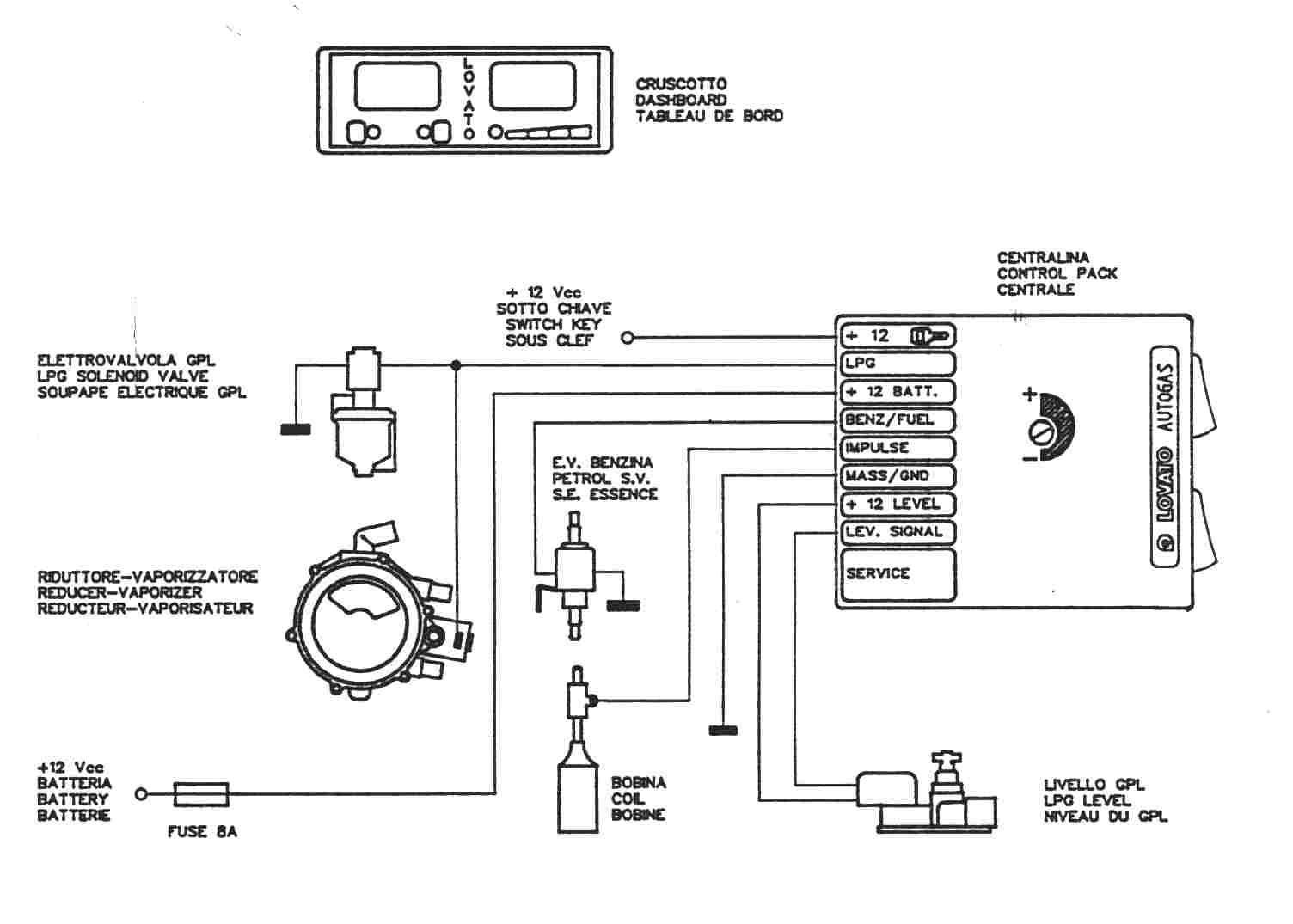 Tamona in-3 инжектор схема подключения