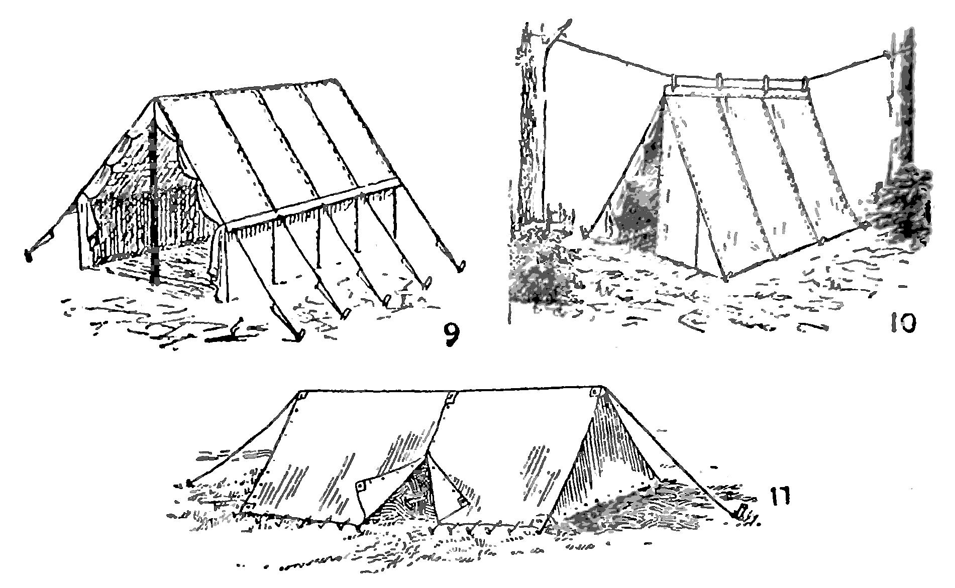 Как сделать в лесу палатку своими руками 91