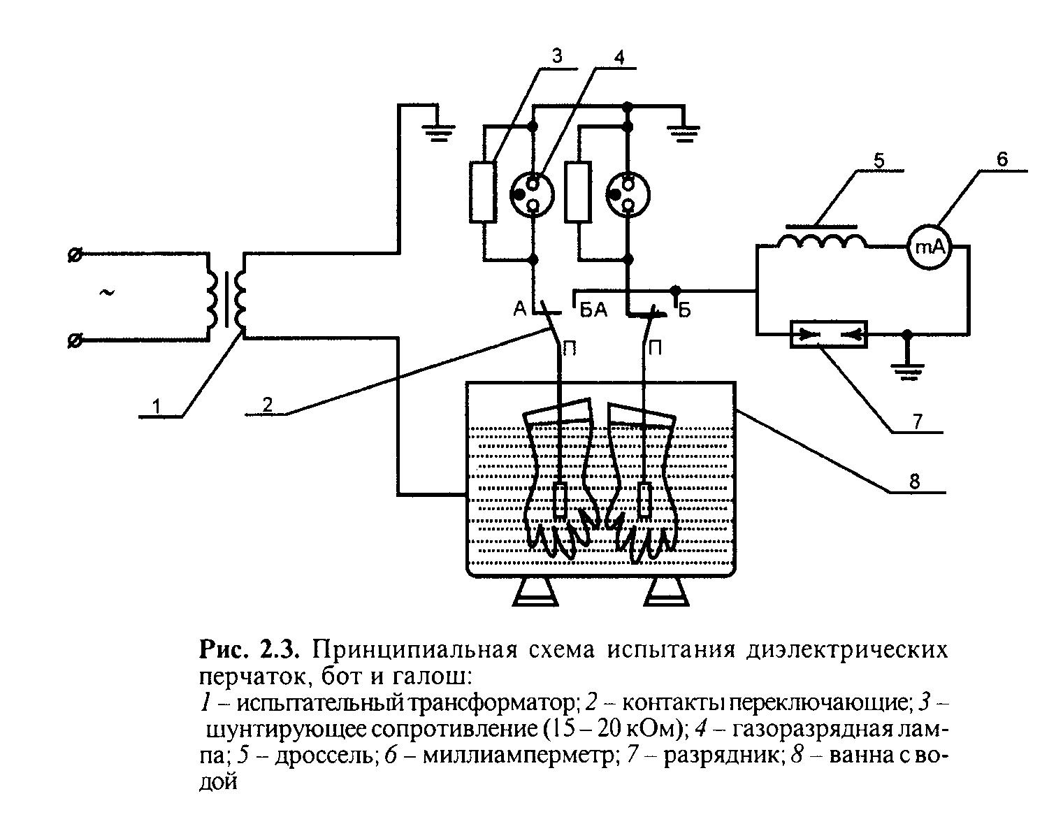 Проверка схемы проводок