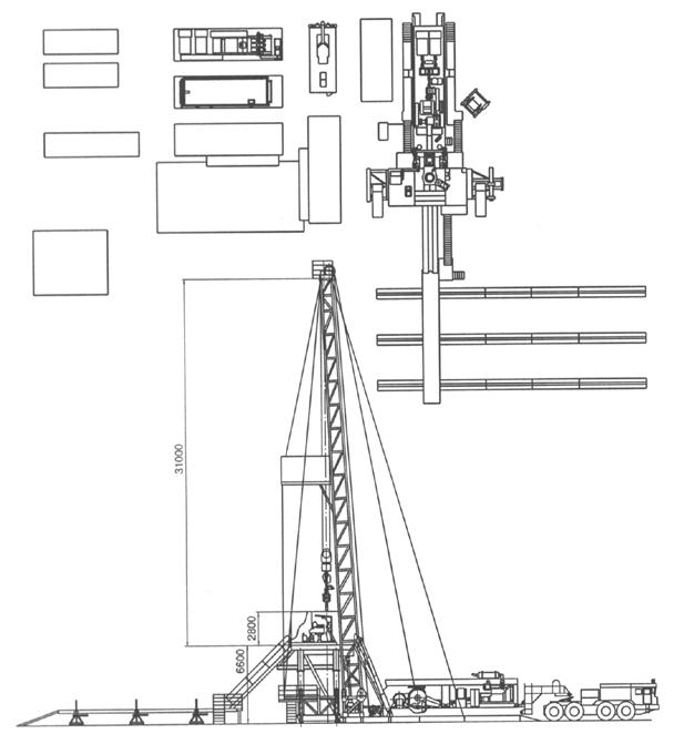 Схема буровой установки 125