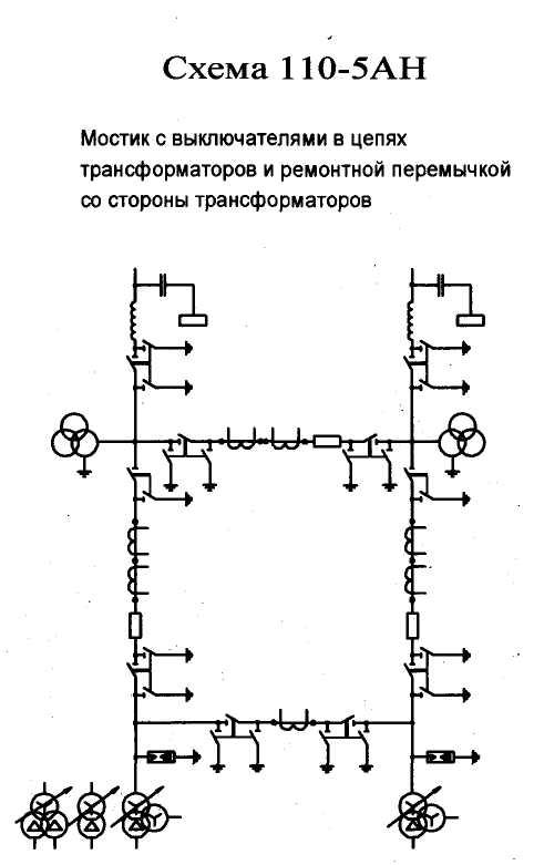 Подстанция схема мостик
