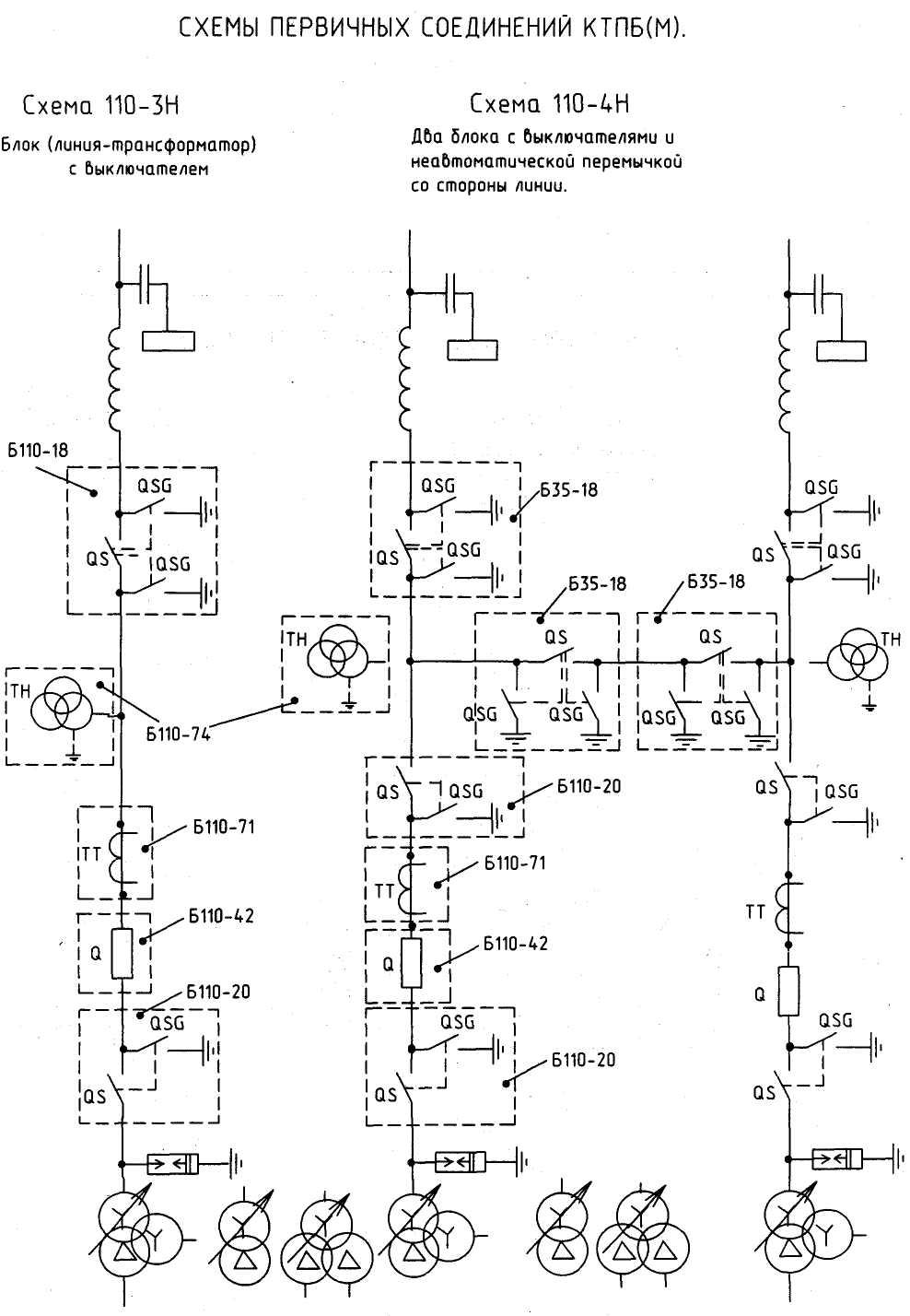 Схема шкафа трансформатора напряжения